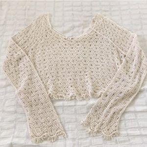 Pacsun Boho Crop Crochet Top